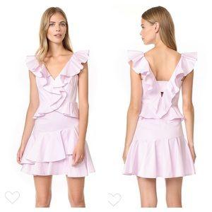 Rebecca Taylor Lilac Haze Sleeveless Ruffle Dress